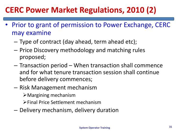 CERC Power Market Regulations, 2010 (2)
