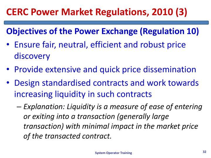 CERC Power Market Regulations, 2010 (3)