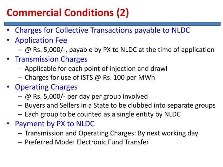Commercial Conditions (2)