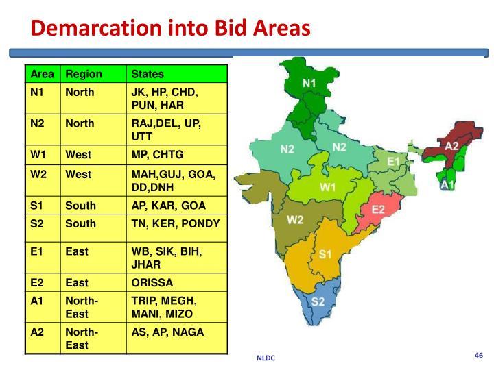 Demarcation into Bid Areas
