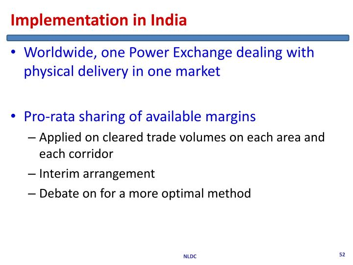 Implementation in India