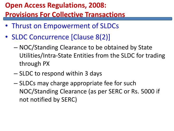 Open Access Regulations, 2008: