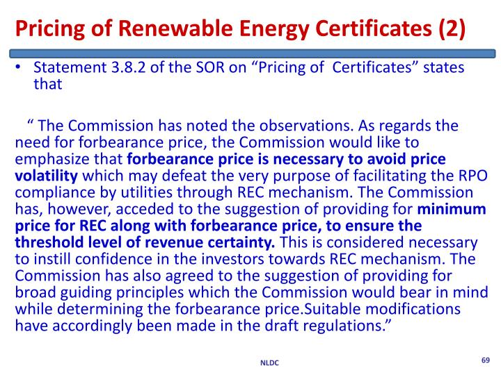 Pricing of Renewable Energy Certificates (2)