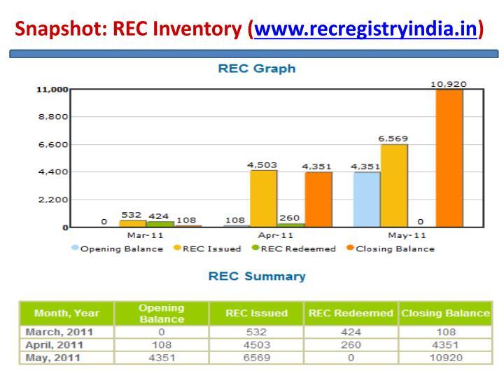 Snapshot: REC Inventory