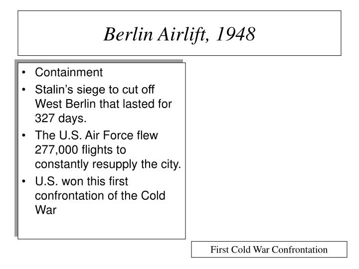 Berlin Airlift, 1948