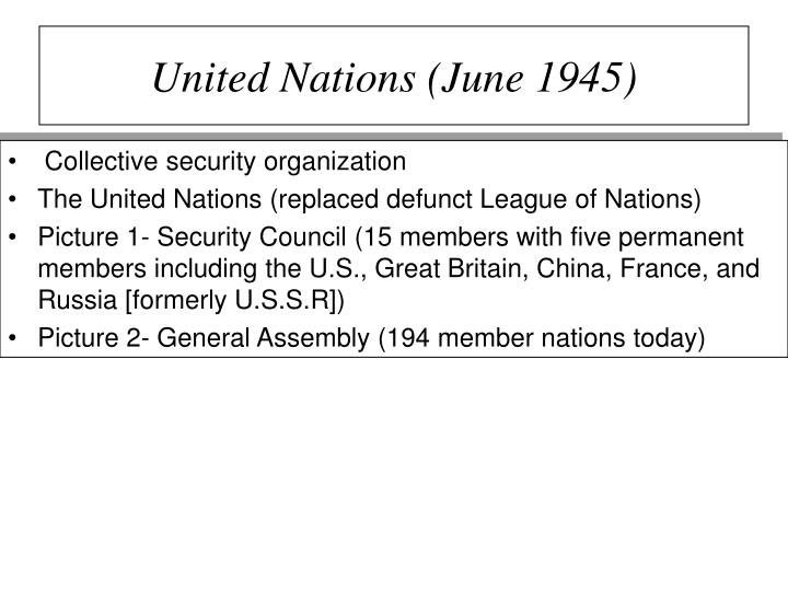 United Nations (June 1945)