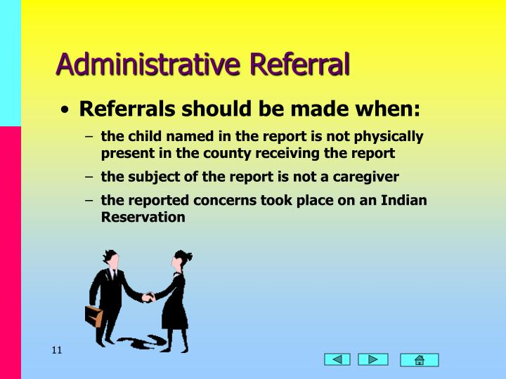 Administrative Referral