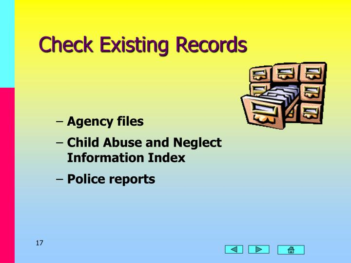Check Existing Records