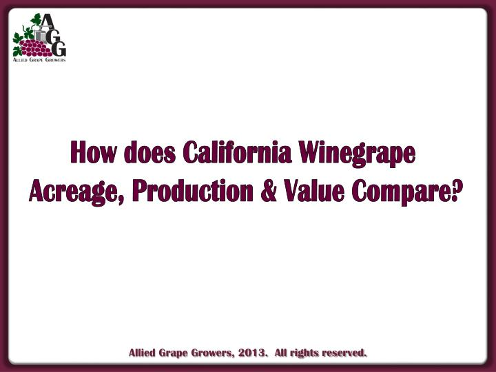 How does California Winegrape