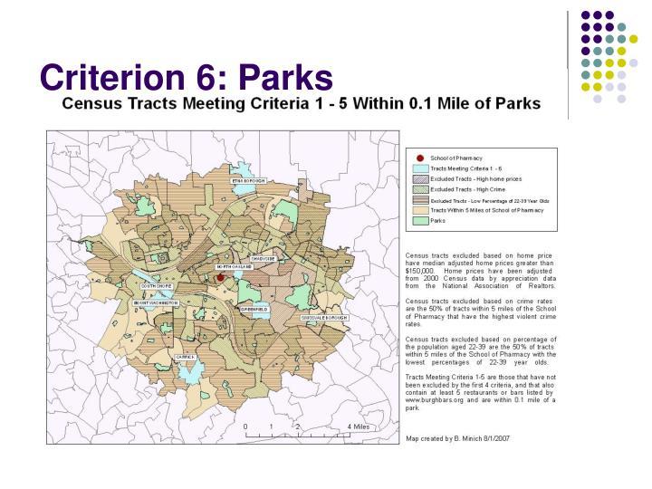 Criterion 6: Parks