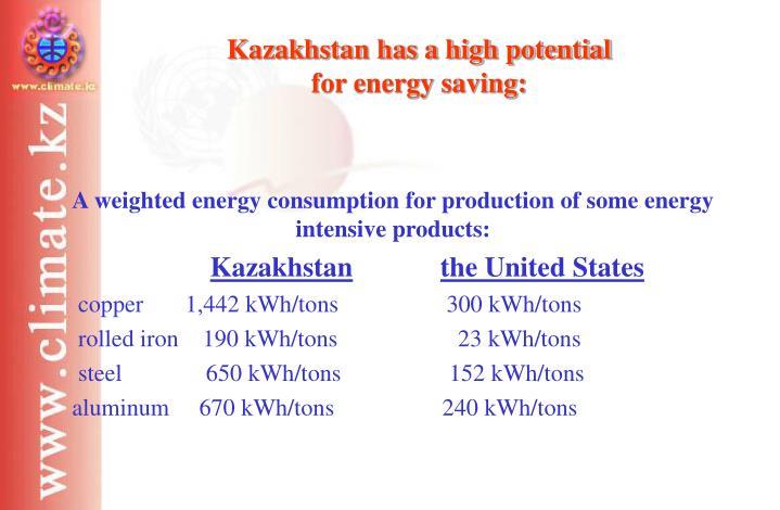 Kazakhstan has a high potential