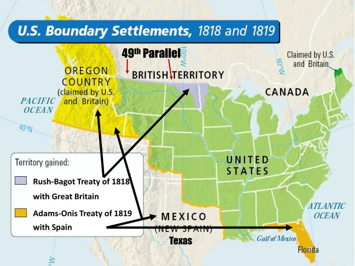 the effects of the adams onis treaty on the growth of the united states The transcontinental treaty was signed by us secretary of state john quincy adams and spanish minister to the united states don luis de onis on february 22, 1819 under its terms, spain ceded east florida to the united states and renounced all claims to west florida and the oregon country, in exchange for which the united states agreed to pay.