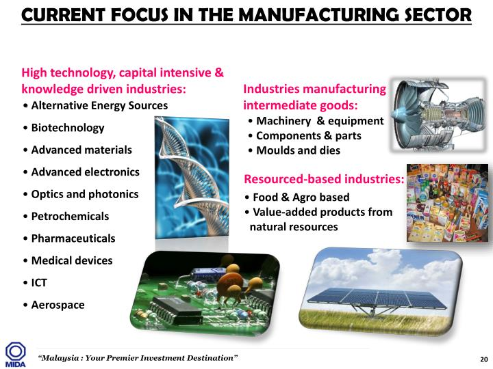 CURRENT FOCUS IN THE MANUFACTURING SECTOR