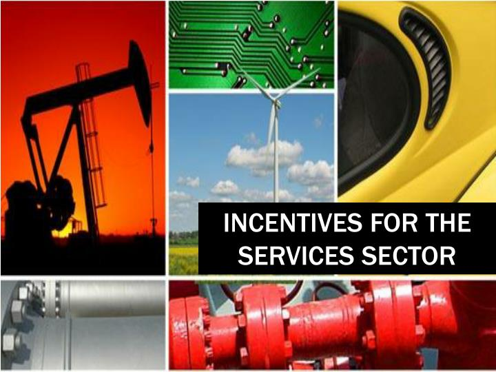 INCENTIVES FOR THE SERVICES SECTOR