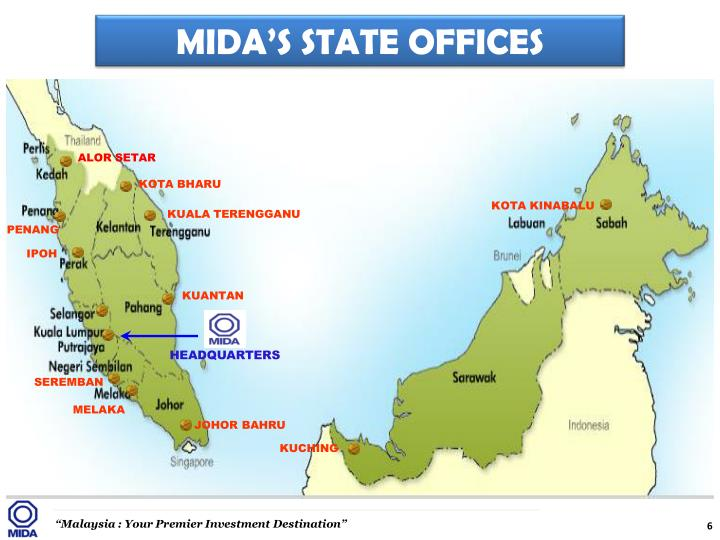 MIDA'S STATE OFFICES