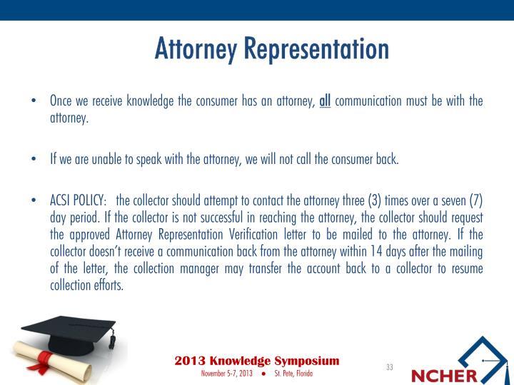 Attorney Representation