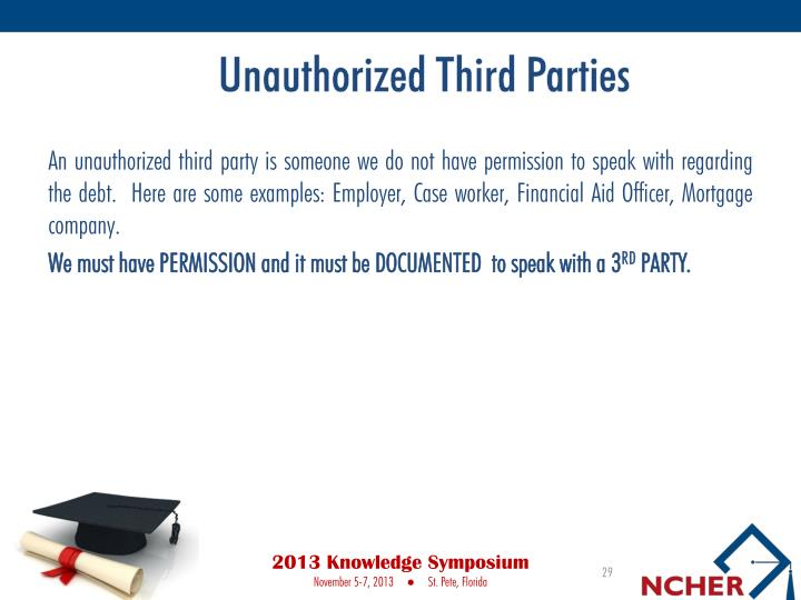 Unauthorized Third Parties