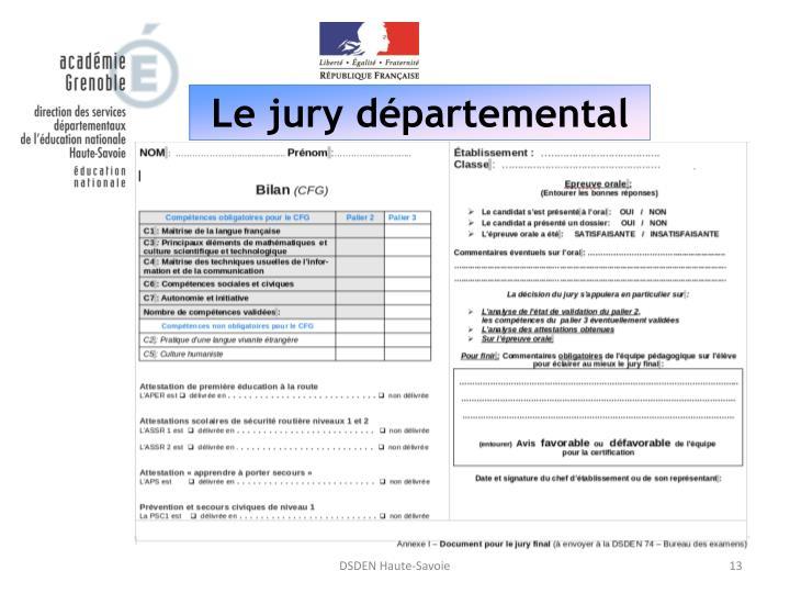 Le jury départemental