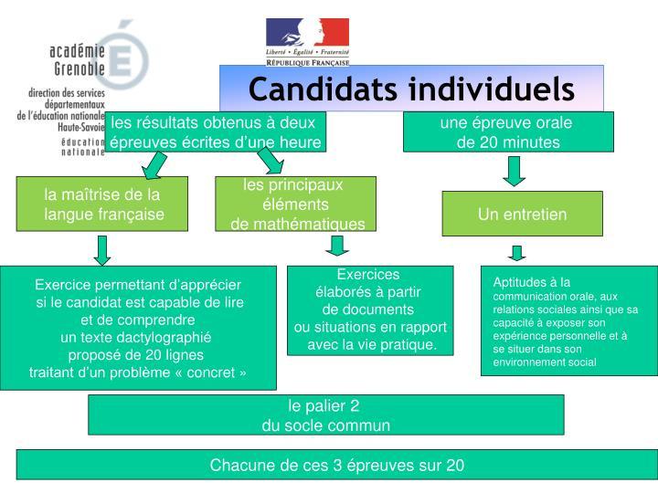 Candidats individuels