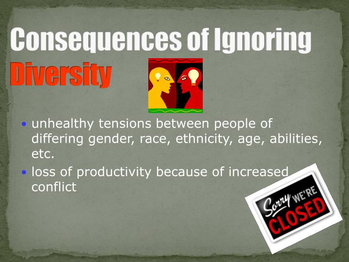 Consequences of Ignoring
