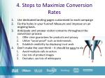 4 steps to maximize conversion rates
