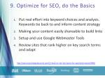 9 optimize for seo do the basics