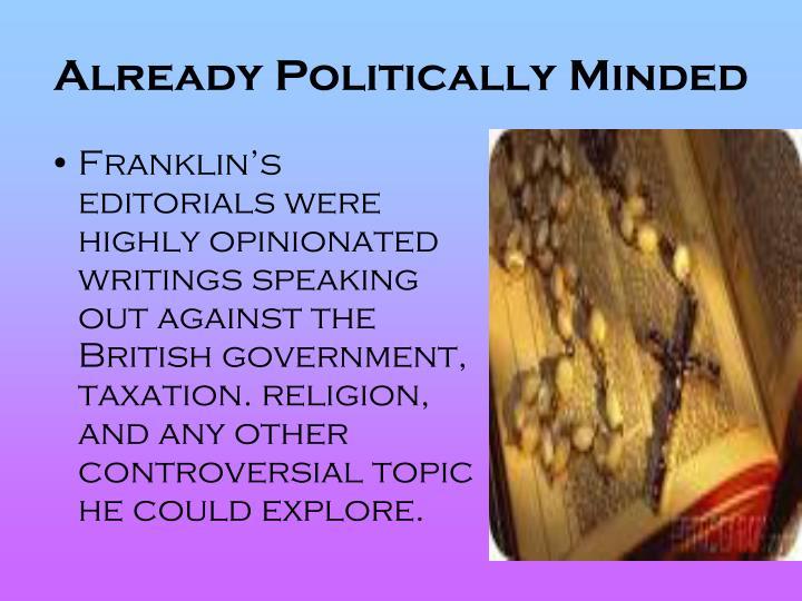 Already Politically Minded