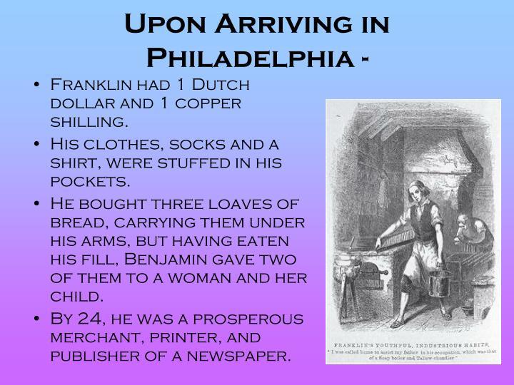 Upon Arriving in Philadelphia -