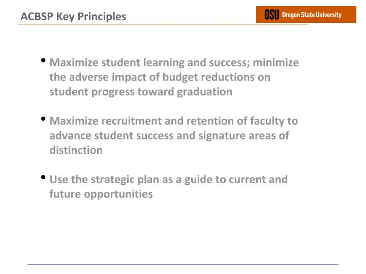 ACBSP Key Principles