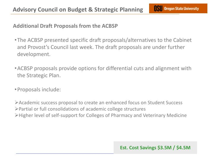 Advisory Council on Budget & Strategic Planning