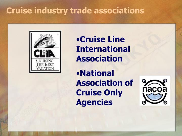Cruise industry trade associations