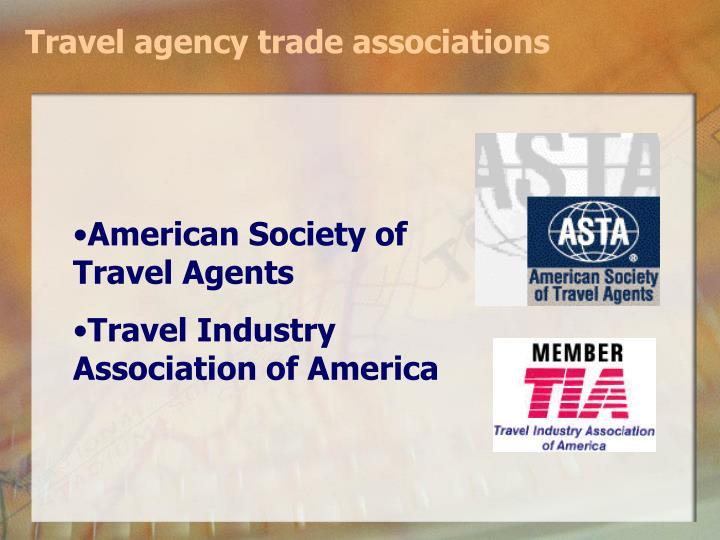 Travel agency trade associations