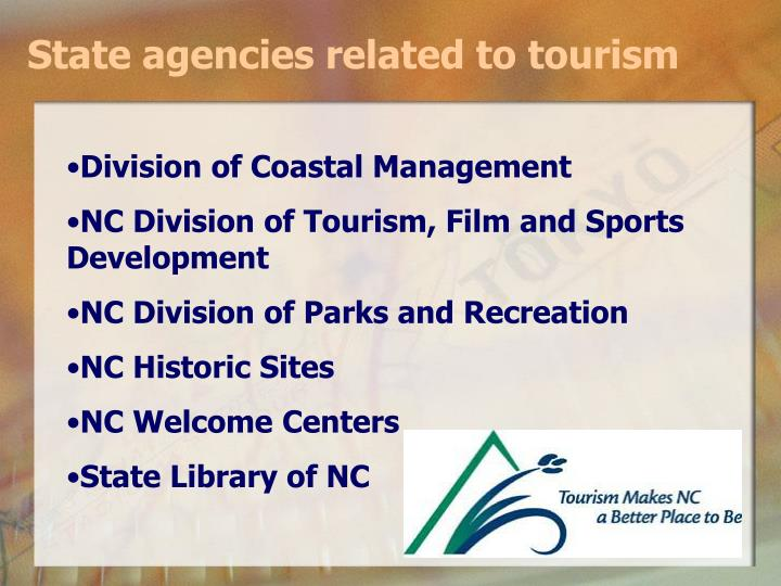State agencies related to tourism