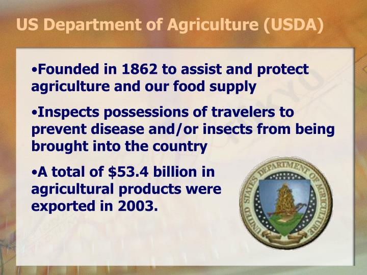 US Department of Agriculture (USDA)
