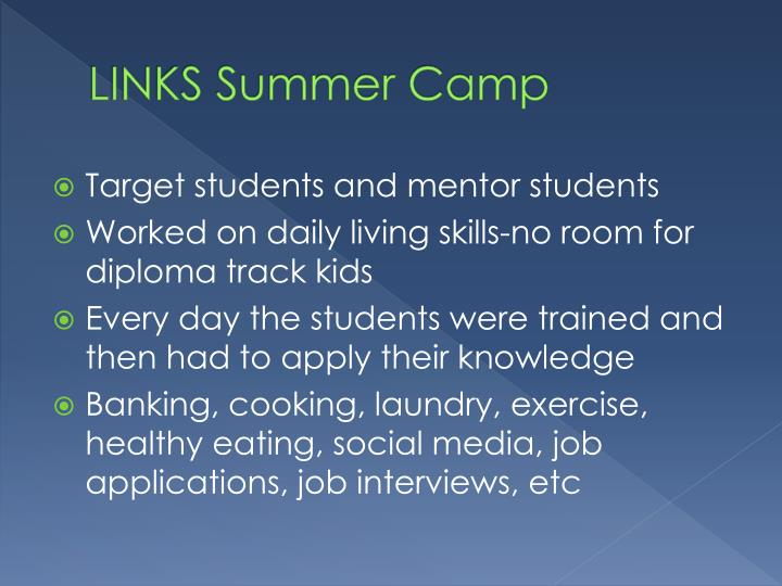 LINKS Summer Camp