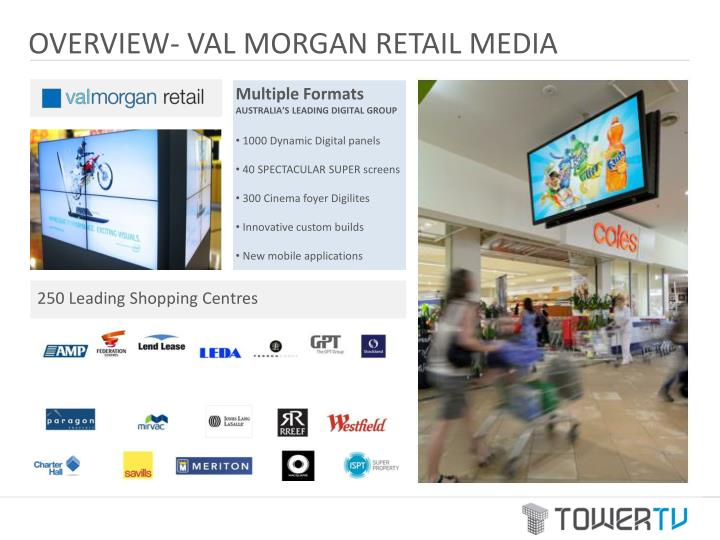 OVERVIEW- VAL MORGAN RETAIL MEDIA