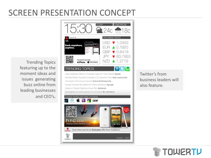 SCREEN PRESENTATION CONCEPT