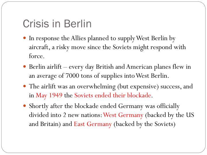 Crisis in Berlin