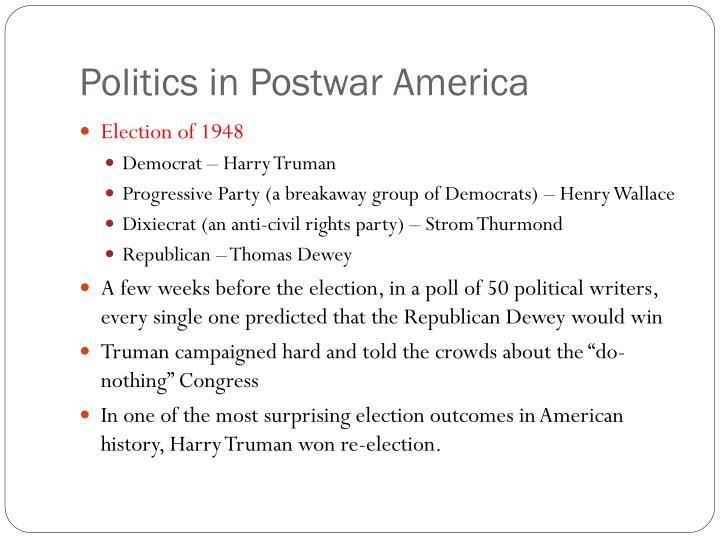 Politics in Postwar America