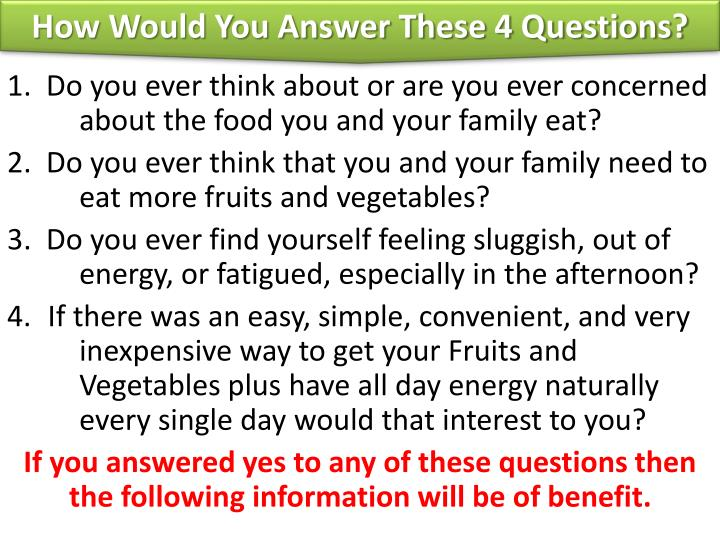 How Would You Answer These 4 Questions?