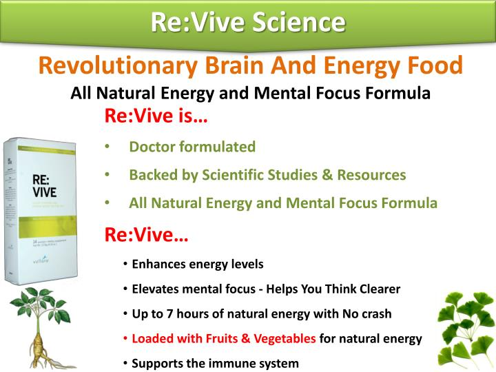 Re:Vive Science