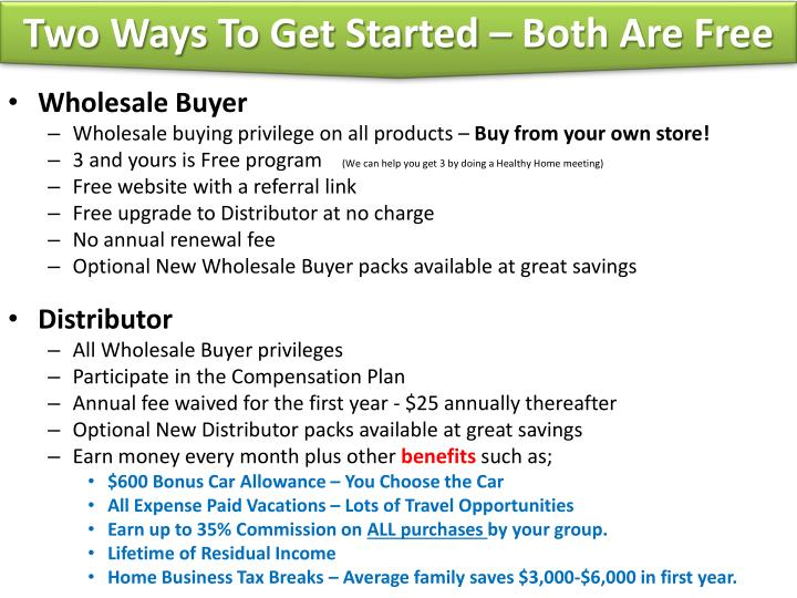 Two Ways To Get Started – Both Are Free