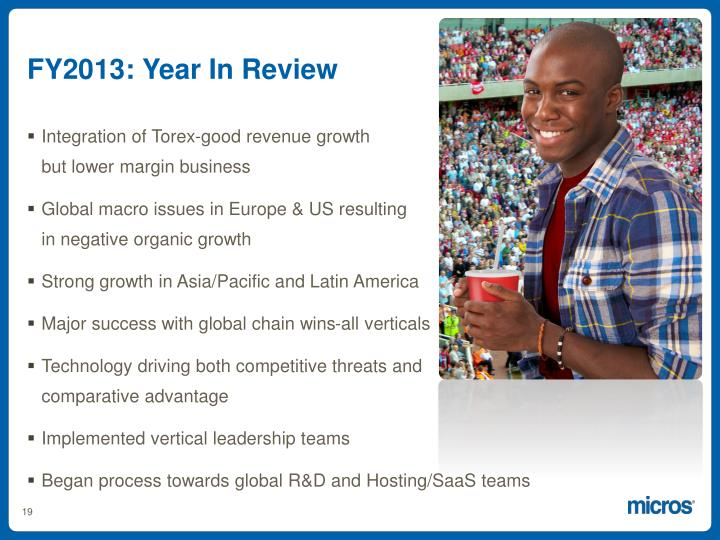 FY2013: Year