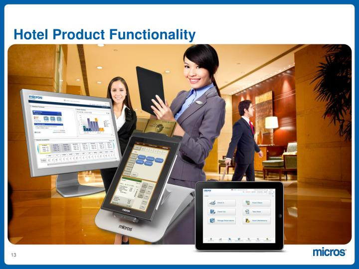 Hotel Product Functionality
