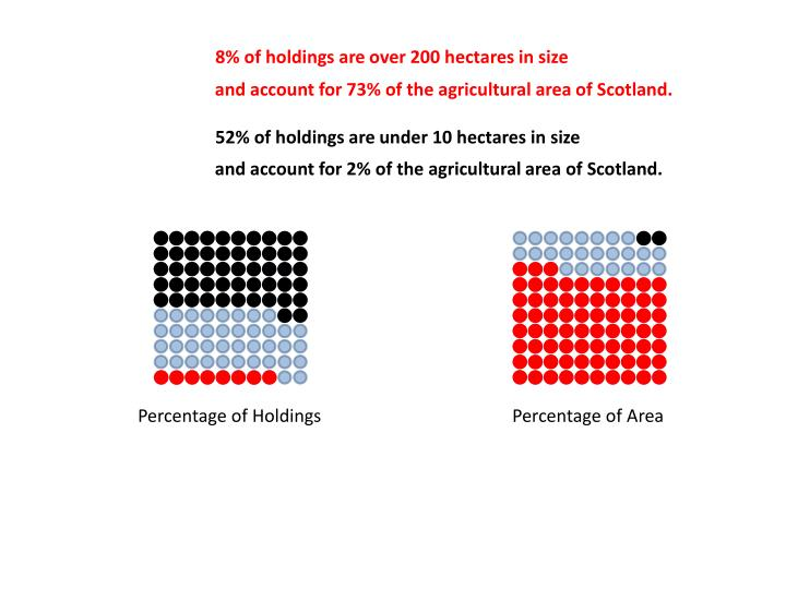 8% of holdings are over 200 hectares in size