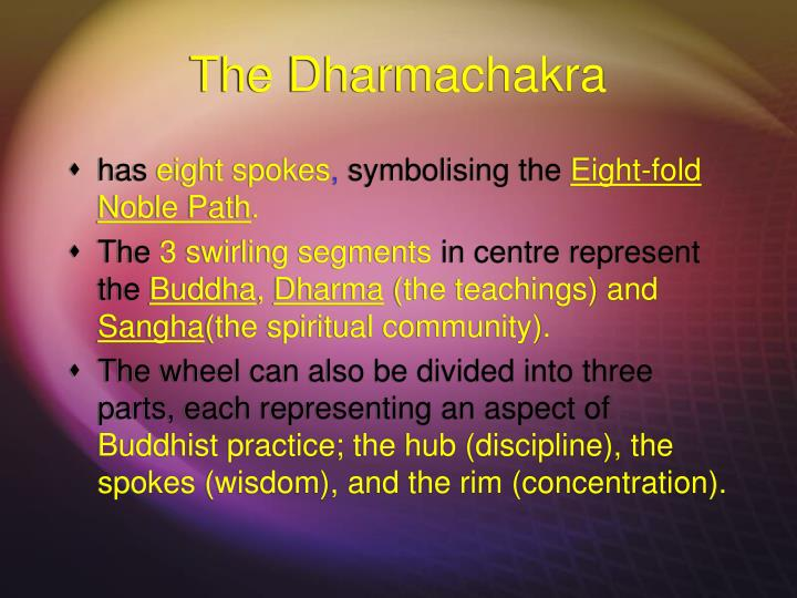 The dharmachakra