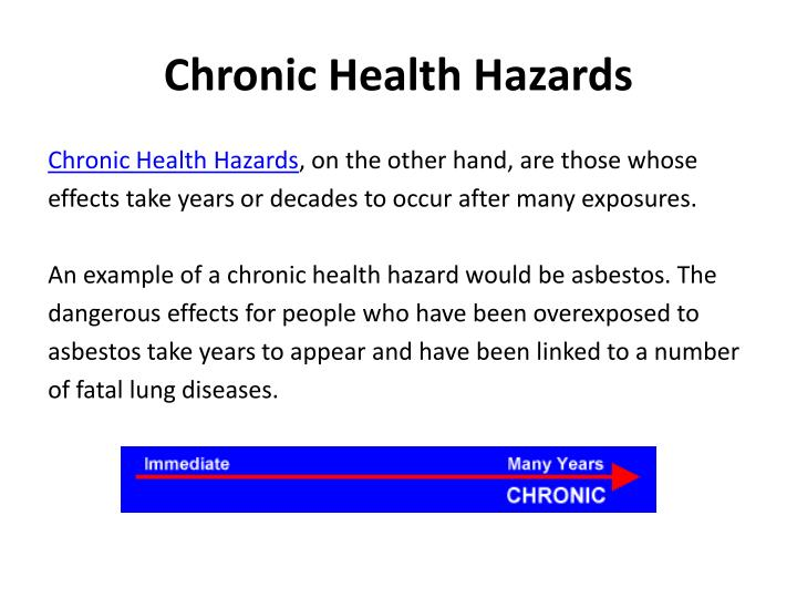 Chronic Health Hazards