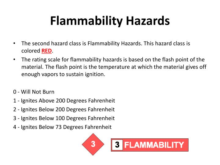 Flammability Hazards