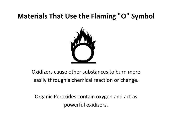 "Materials That Use the Flaming ""O"" Symbol"