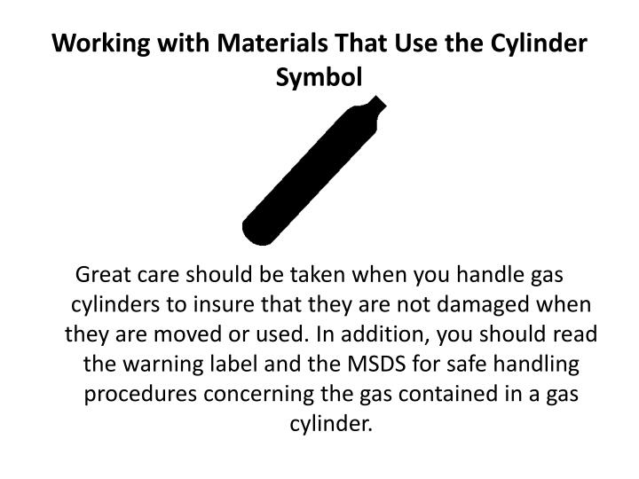 Working with Materials That Use the Cylinder Symbol